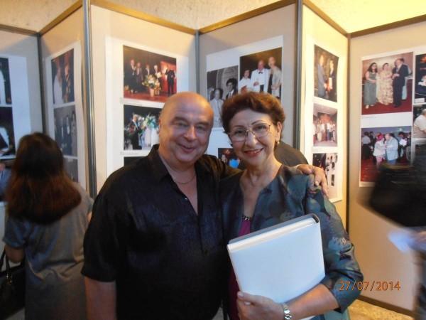 Hans Vogl mit Jurorin Aurora Bosch (Cuba), international anerkannte Pädagogin und ehem. Preisgewinnerin des Varna-Ballettwettbewerbs