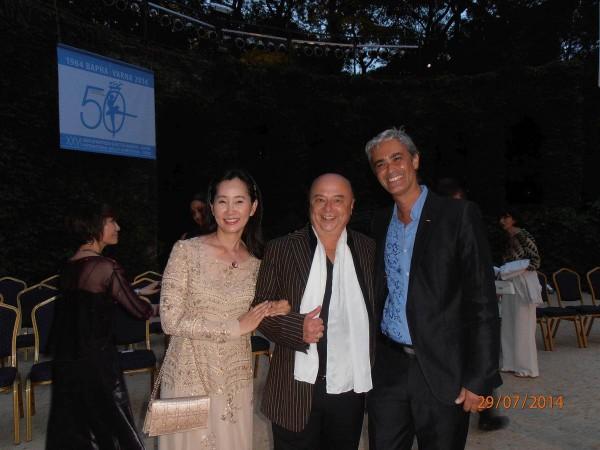 Hans Vogl mit Dr. Seon-Hee Jang (Korea), Professorin der Ballett-Abteilung der Sejong-Universität Seoul und Luca Masala (Monaco), Direktor der Princess Grace Academy of Dance in Monaco
