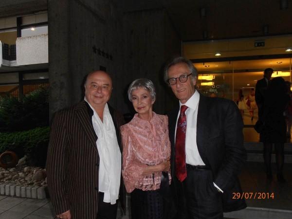 Hans Vogl mit Primaballerina Krassimira Koldamova (Bulgarien) und mit dem ehem. Etoile der Pariser Oper Cyrille Atanassoff (Frankreich)